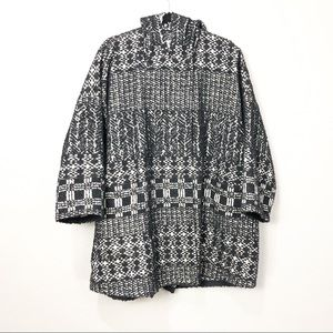 Gerard Darel Knit Wide Sleeve Overcoat Jacket